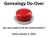 Genealogy Do-Over
